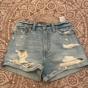Abercrombie High Waisted Jean Shorts